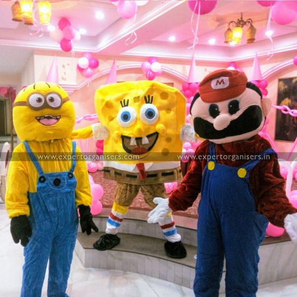 Minion, Sponge Bob, and Super Mario Cartoon Costume on Rent Chandigarh Mohali Panchkula