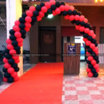 Red & Black Balloon Arch