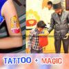 Tattoo Artist & Magic Show for Birthday Parties in Chandigarh Mohali Panchkula